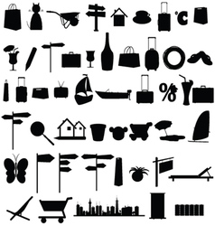 stuff black silhouette and more vector image