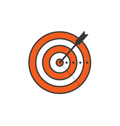Target and arrow icon isolated vector