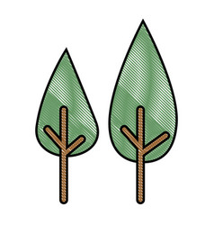 Trees icon image vector