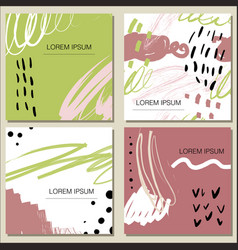 Trendy creative cards set vector