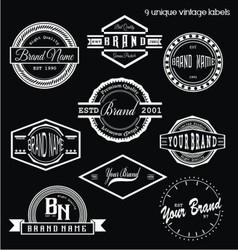 unique vintage labels vector image