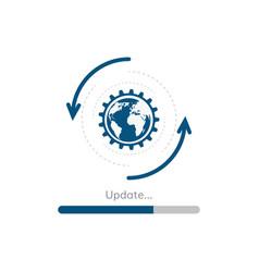 update progress bar vector image