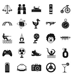 Urban holidays icons set simple style vector