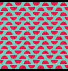 watermelon fruit pattern background design vector image