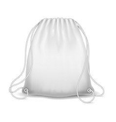 white sport bag vector image