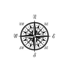 wind rose isolated compass navigation symbol vector image