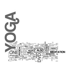 Yoga dvd text background word cloud concept vector