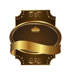 golden royal label on black background with corner vector image vector image