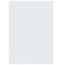 Notebook paper with squares vector image vector image