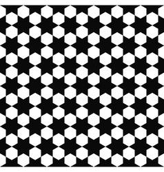 Seamless black white hexagram pattern vector