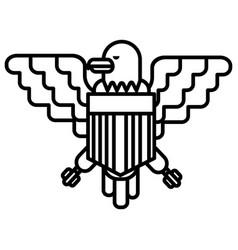 american eagle line icon sign vector image vector image