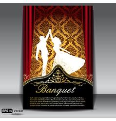 Banquet flyer vector