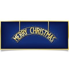Blue Christmas design inscription on signboard vector image vector image