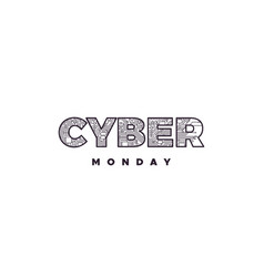 cyber monday label design vector image vector image
