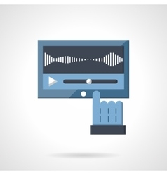 Flat color classic video player icon vector image