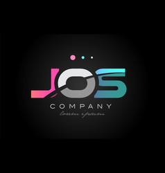 jos j o s three letter logo icon design vector image