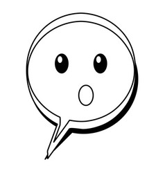 speech bubble confused comic character vector image vector image