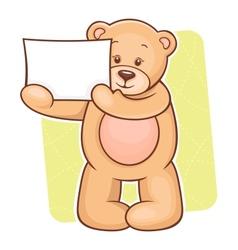 Teddy Bear sign vector image vector image
