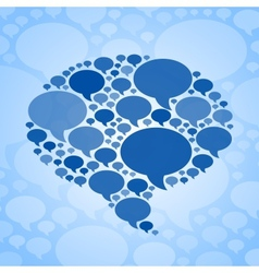 Chat bubble symbol on blue background vector