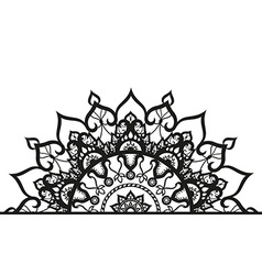 Semi-ircular ornament in ethnic style vector image