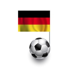 Soccer Balls or Footballs with flag of Germany vector image vector image