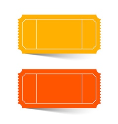 Tickets Set - Red and Orange Isolated on Whi vector image