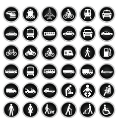 Transport and people Icon collection vector image