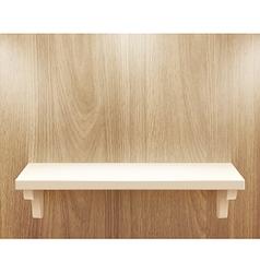 wooden shelf vector image