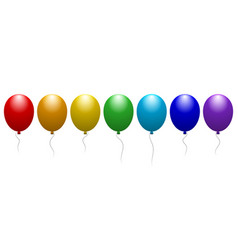 Balloons of all colors of the rainbow festive vector