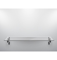 glass shelf vector image