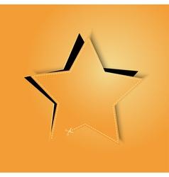 golden paper star vector image