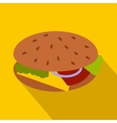 Hamburger icon in flat style vector image