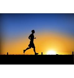 Jogging man vector image