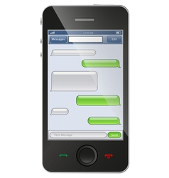 phone with chat template vector image vector image