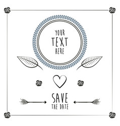 save the date romantic card wedding heart vector image vector image