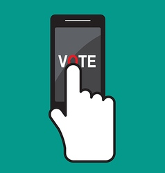 Vote title button vector