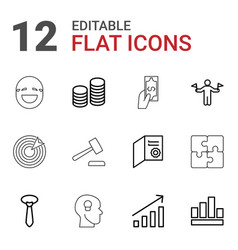 12 success icons vector