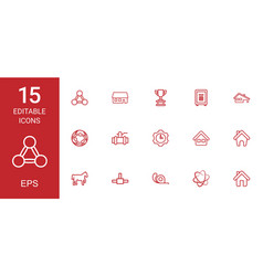 15 eps icons vector image