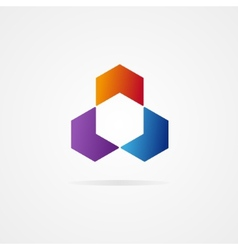 Abstract hexagon design vector