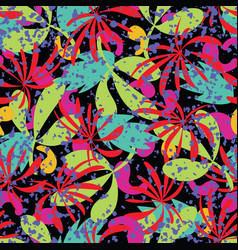 abstract tropical leaves seamless pattern vector image