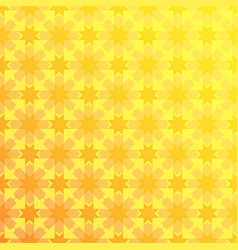 arabesque geometric seamless floral yellow pattern vector image