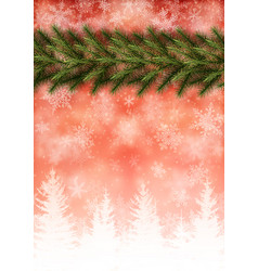 background with border christmas tree vector image