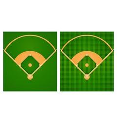 Baseball field in two lawn designs vector