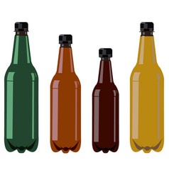 bottles with black covers vector image