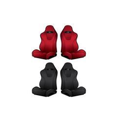 Car seats accessories racing vector