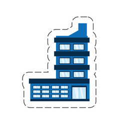 cartoon building corporate icon vector image