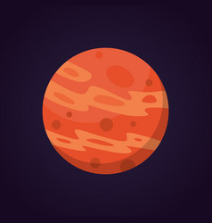 cartoon funny of red planet vector image