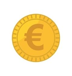 Coin euro isolated icon vector