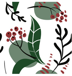 Collage style seamless pattern vector