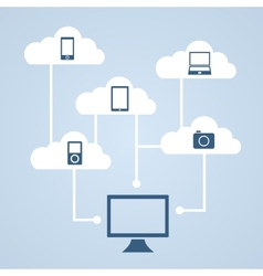 Concept of cloud storage vector image